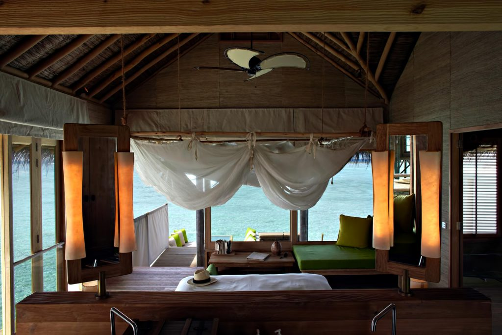 Six Senses Laamu Luxury Resort - Laamu Atoll, Maldives - Overwater Villa Bedroom View