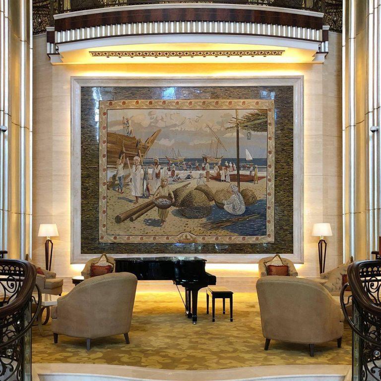 The St. Regis Abu Dhabi Luxury Hotel – Abu Dhabi, United Arab Emirates – Lobby Mural