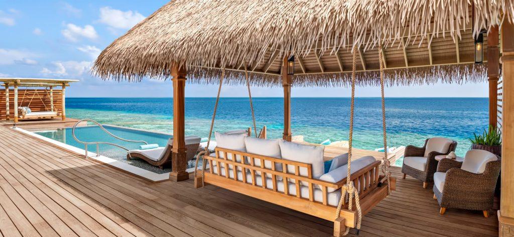 Waldorf Astoria Maldives Ithaafushi Luxury Resort - Ithaafushi Island, Maldives - Overwater Villa Deck Pool Swing