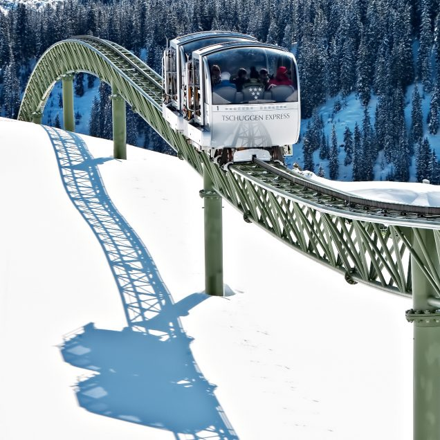 Tschuggen Grand Luxury Hotel - Arosa, Switzerland - Tschuggen Express Sky Tram