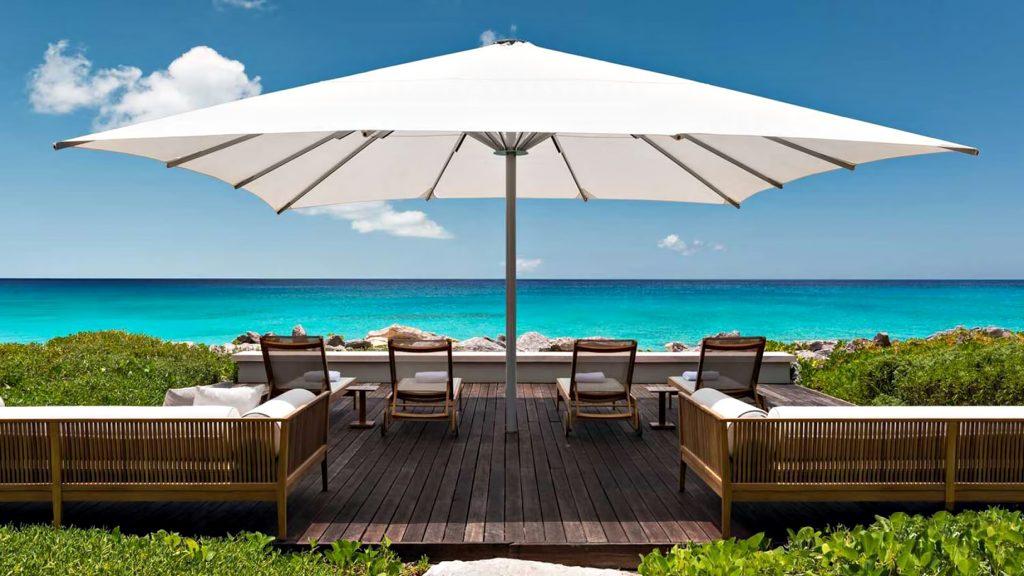 Amanyara Luxury Resort - Providenciales, Turks and Caicos Islands - Beachfront Umbrella Deck Chairs