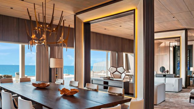 The St. Regis Maldives Vommuli Luxury Resort - Dhaalu Atoll, Maldives - John Jacob Astor Estate Dining Area