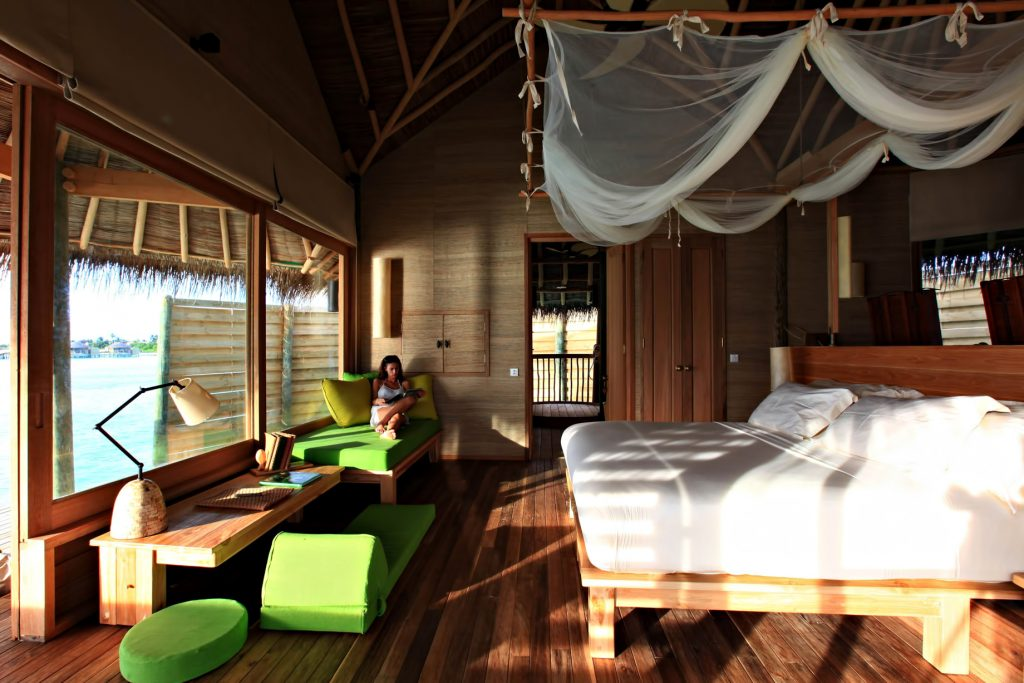 Six Senses Laamu Luxury Resort - Laamu Atoll, Maldives - Lagoon Water Villa Bedroom