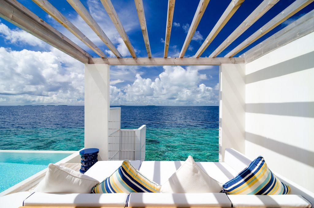 Amilla Fushi Luxury Resort and Residences - Baa Atoll, Maldives - Reef Water Villa Pool Deck Lounge