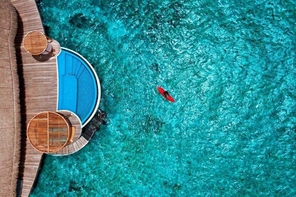 W Maldives Luxury Resort - Fesdu Island, Maldives - Wow Ocean Escape Infinity Pool Overhead View