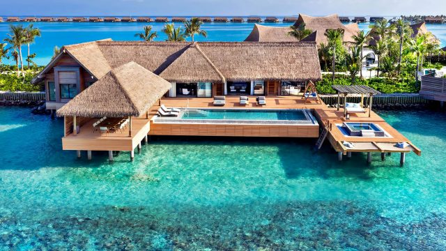 Waldorf Astoria Maldives Ithaafushi Luxury Resort - Ithaafushi Island, Maldives - Reef Villa with Pool Two Bedroom Aerial