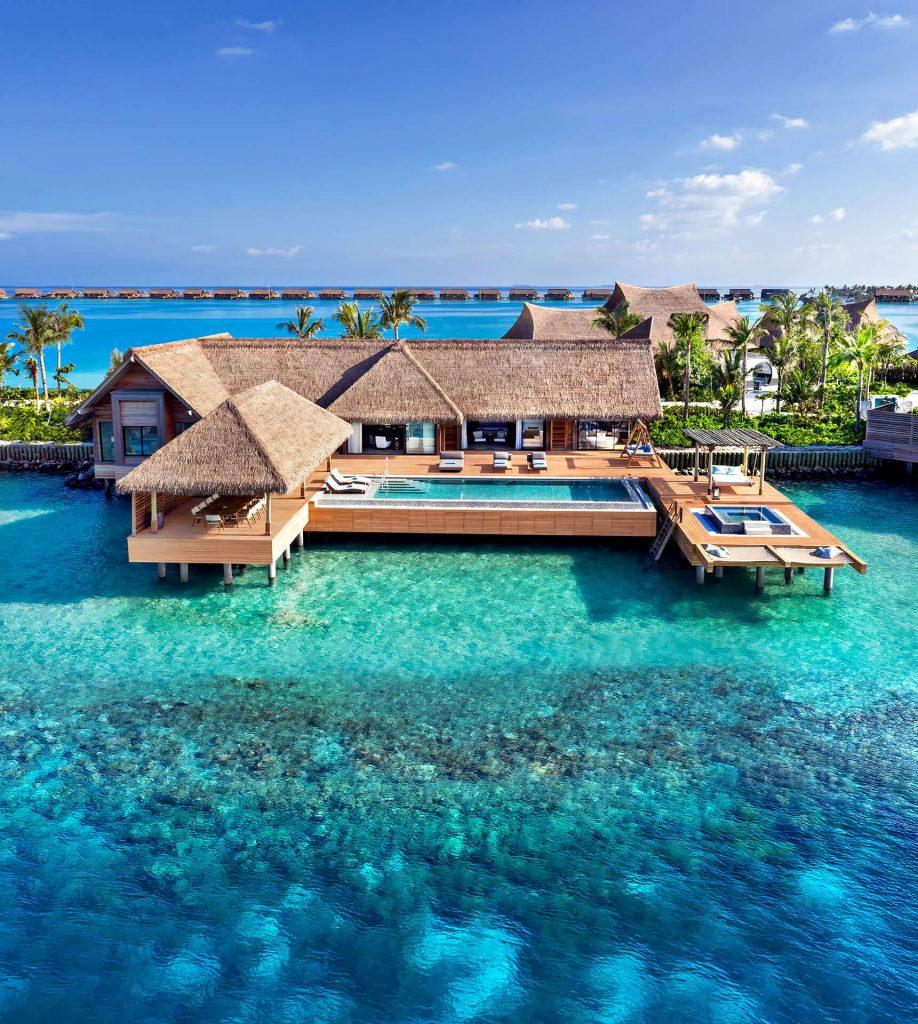 Waldorf Astoria Maldives Ithaafushi Luxury Resort - Ithaafushi Island, Maldives - Reef Villa with Pool Two Bedroom Aerial
