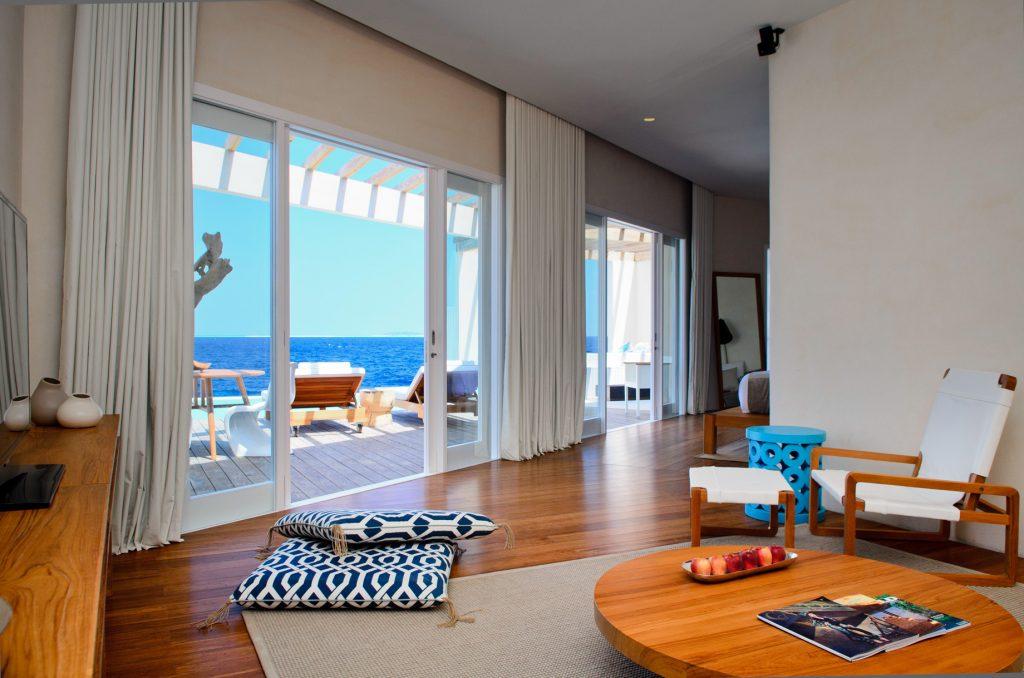 Amilla Fushi Luxury Resort and Residences - Baa Atoll, Maldives - Reef Water Villa Living Room