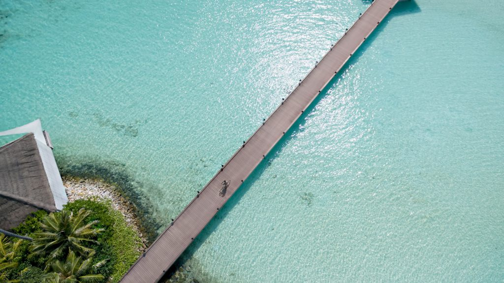 Cheval Blanc Randheli Luxury Resort - Noonu Atoll, Maldives - Private Island Resort Overwater Boardwalk Aerial