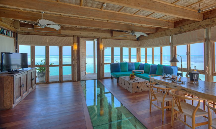 Gili Lankanfushi Luxury Resort - North Male Atoll, Maldives - The Private Reserve Entrance Living Room