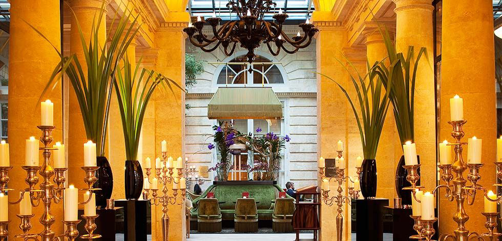 InterContinental Bordeaux Le Grand Hotel - Bordeaux, France - Atrium Entrance