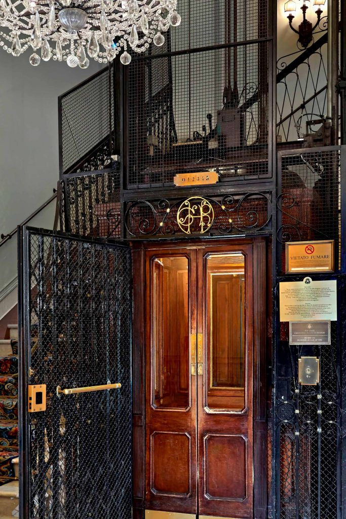 The St. Regis Rome Luxury Hotel - Rome, Italy - Historical lift Detail