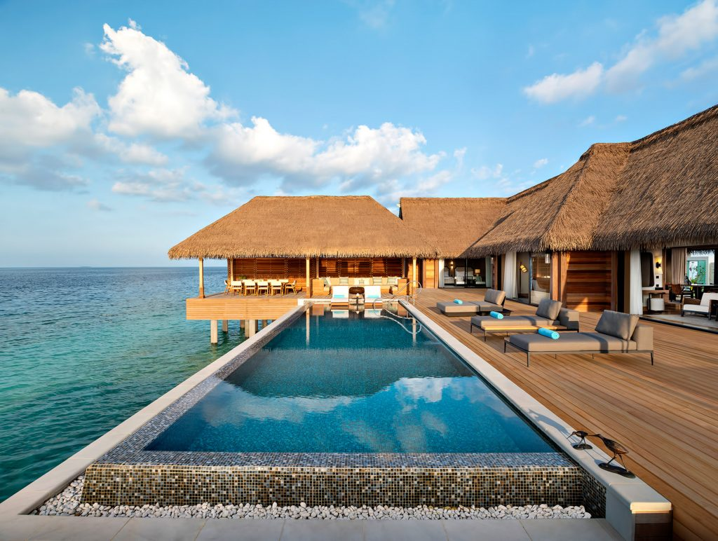 Waldorf Astoria Maldives Ithaafushi Luxury Resort - Ithaafushi Island, Maldives - Two and Three Bedroom Overwater Villa Infinity Pool
