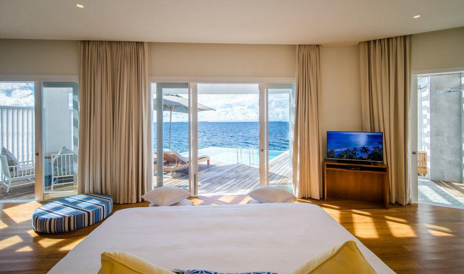 Amilla Fushi Luxury Resort and Residences - Baa Atoll, Maldives - Reef Water Villa Bedroom