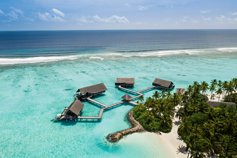 One&Only Reethi Rah Luxury Resort - North Male Atoll, Maldives - Grand Water Villa Aerial