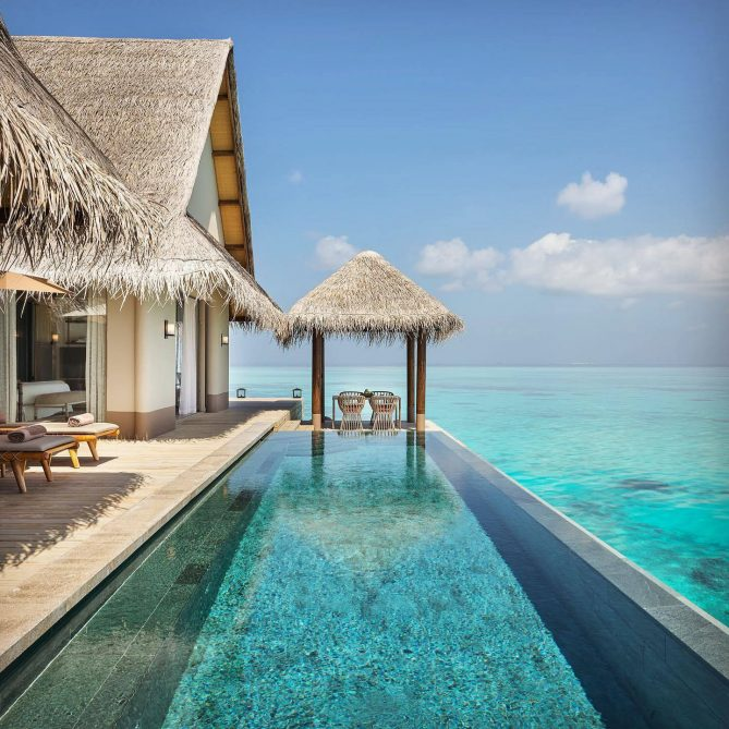 Joali Maldives Luxury Resort - Muravandhoo Island, Maldives - Water Villa Infinity Pool Deck