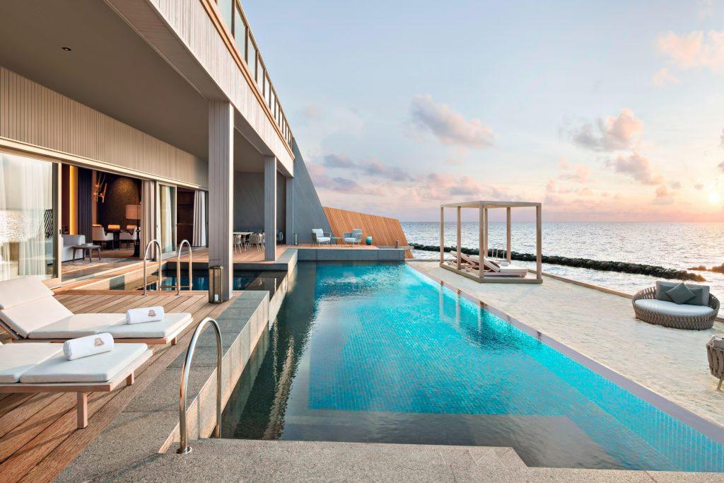 The St. Regis Maldives Vommuli Luxury Resort - Dhaalu Atoll, Maldives - John Jacob Astor Estate Pool Terrace