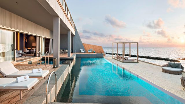 The St. Regis Maldives Vommuli Luxury Resort - Dhaalu Atoll, Maldives - John Jacob Astor Estate Pool Terrace