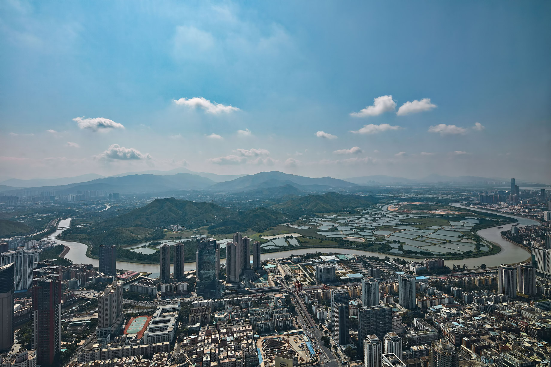 The St. Regis Shenzhen Luxury Hotel - Shenzhen, China - Guest View Skyline