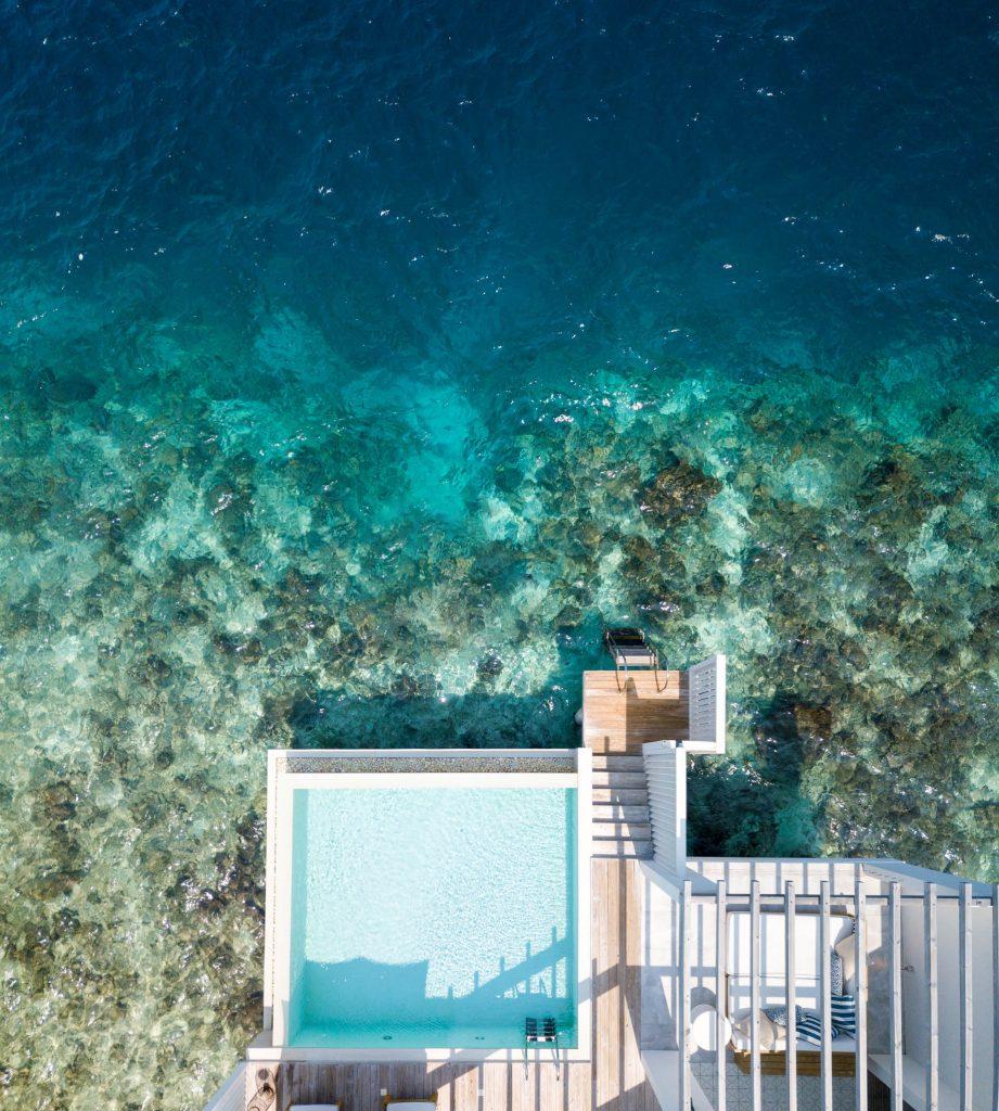 Amilla Fushi Luxury Resort and Residences - Baa Atoll, Maldives - Reef Water Villa Pool Deck Overhead