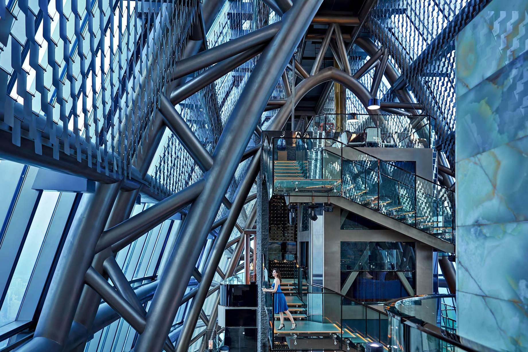 The St. Regis Shenzhen Luxury Hotel - Shenzhen, China - Rooftop 100th Floor Atrium