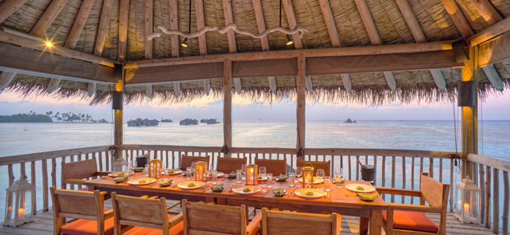 Gili Lankanfushi Luxury Resort - North Male Atoll, Maldives - The Private Reserve Second Level Dining Area