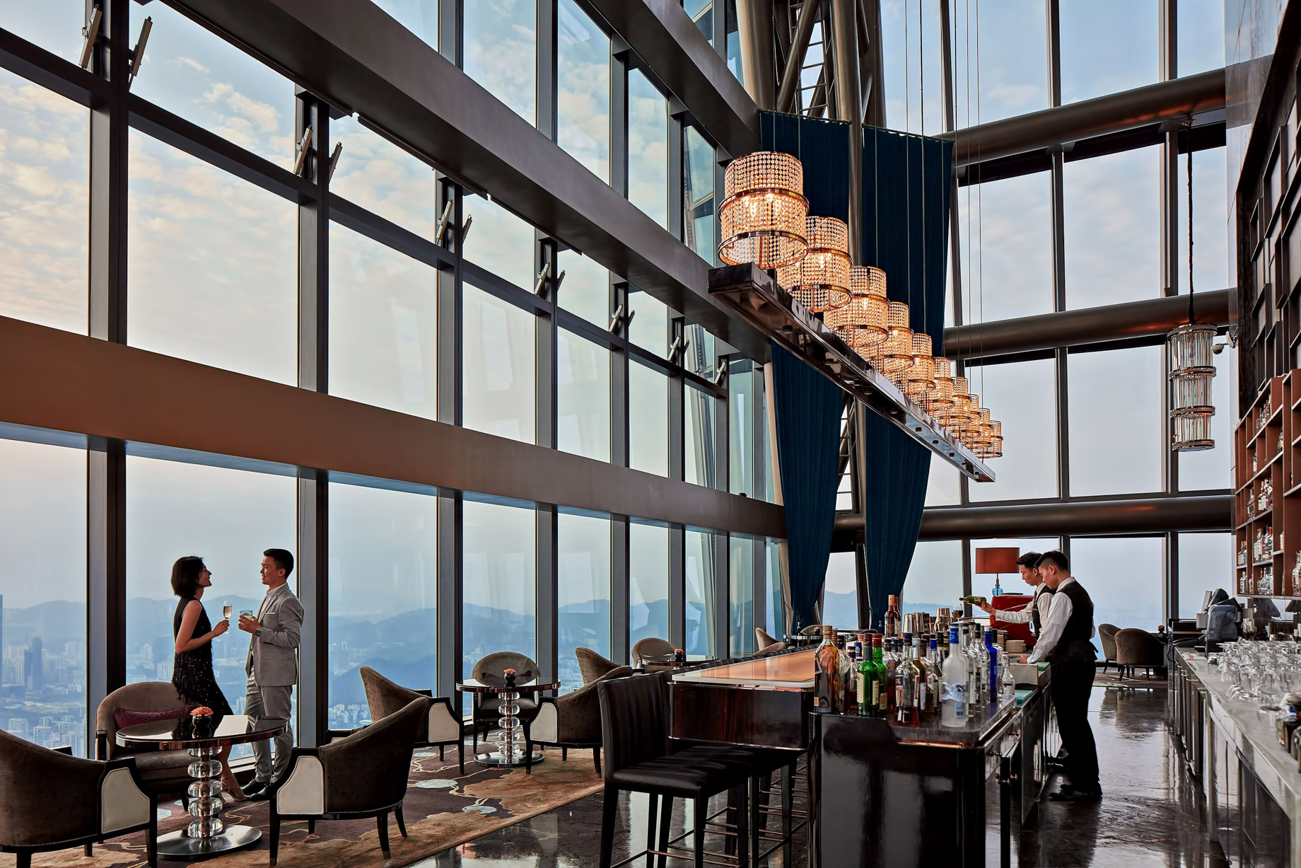 The St. Regis Shenzhen Luxury Hotel – Shenzhen, China – The Drawing Room and St. Regis Bar