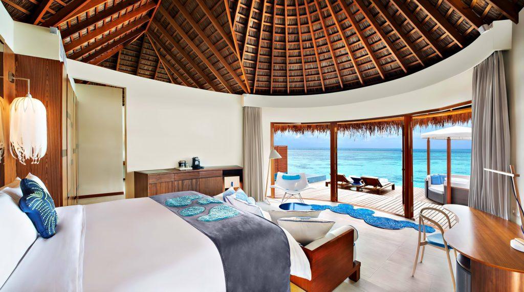 W Maldives Luxury Resort - Fesdu Island, Maldives - Fabulous Overwater Oasis Bungalow Bedroom