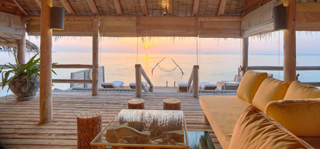 Gili Lankanfushi Luxury Resort - North Male Atoll, Maldives - The Private Reserve Master Suite Living Room Sunrise