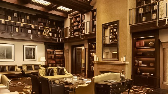 The St. Regis Abu Dhabi Luxury Hotel - Abu Dhabi, United Arab Emirates - St. Regis Bar Library