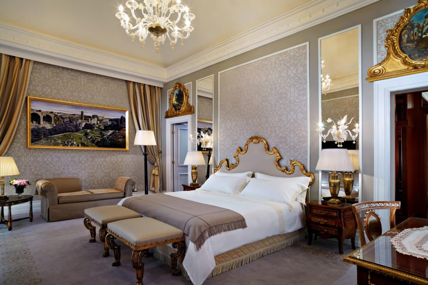 The St. Regis Rome Luxury Hotel - Rome, Italy - Royal Suite Bedroom