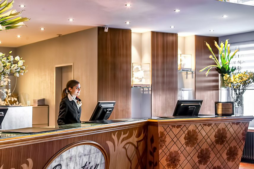 Tschuggen Grand Luxury Hotel - Arosa, Switzerland - Front Desk