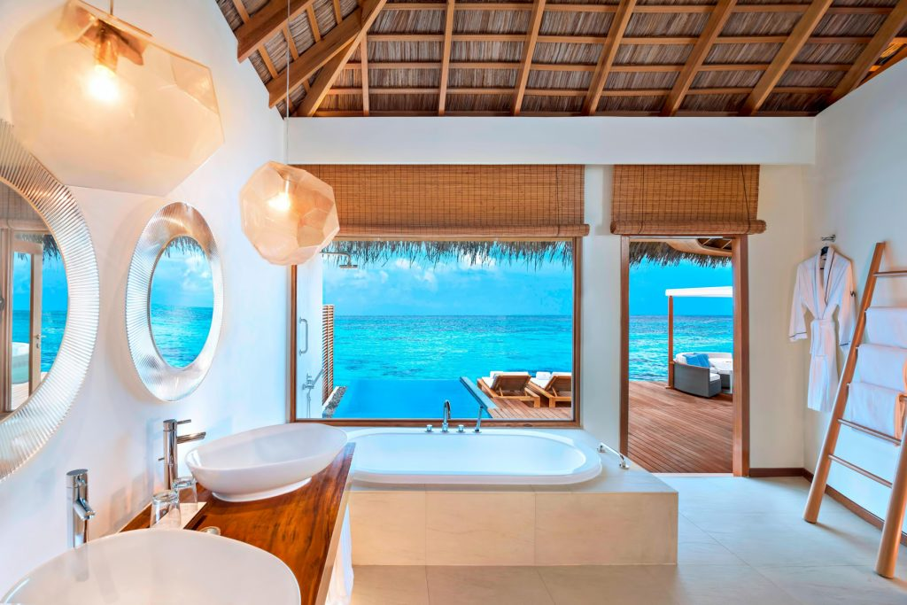W Maldives Luxury Resort - Fesdu Island, Maldives - Fabulous Overwater Oasis Bungalow Bathroom