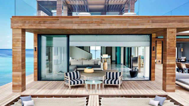 Waldorf Astoria Maldives Ithaafushi Luxury Resort - Ithaafushi Island, Maldives - Stella Maris Ocean Villa Infinity Pool Living Room