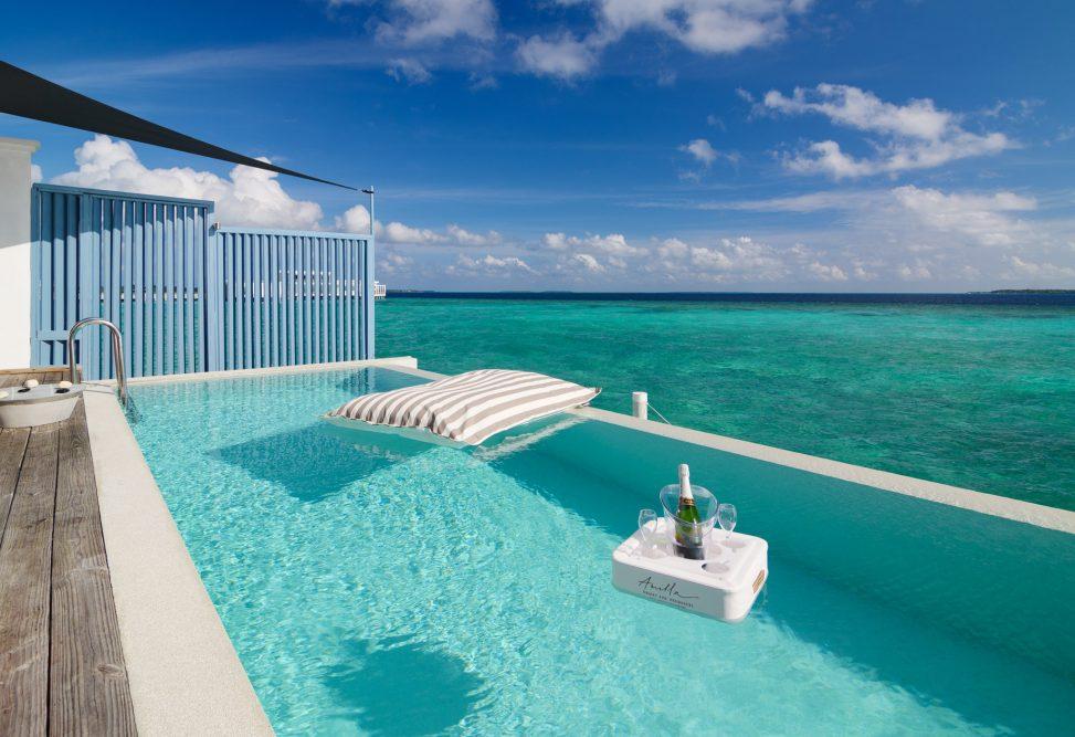 Amilla Fushi Luxury Resort and Residences - Baa Atoll, Maldives - Sunset Water Villa Overwater Pool