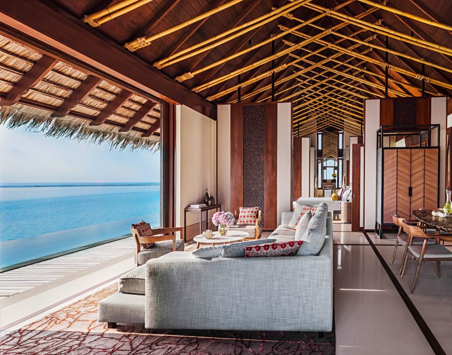 One&Only Reethi Rah Luxury Resort - North Male Atoll, Maldives - Overwater Villa Living Room