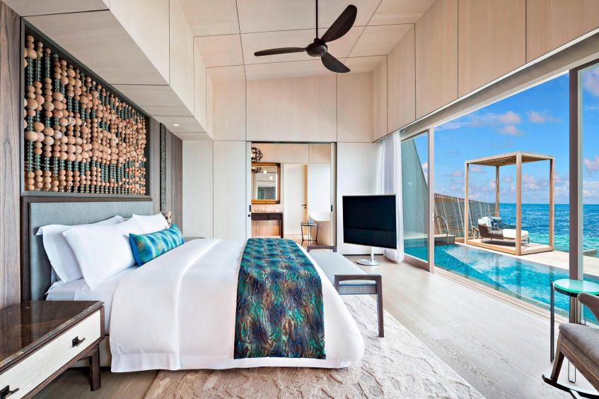 The St. Regis Maldives Vommuli Luxury Resort - Dhaalu Atoll, Maldives - St. Regis Overwater Suite Bedroom
