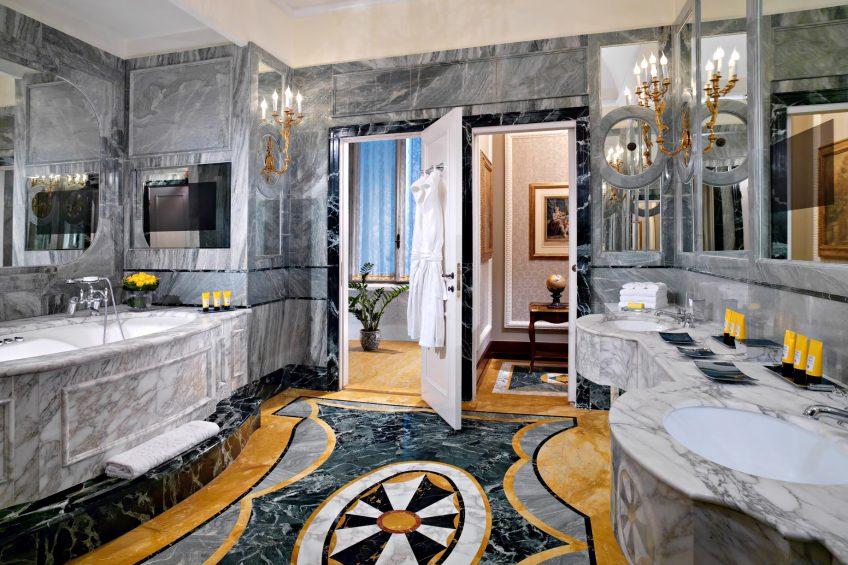 The St. Regis Rome Luxury Hotel - Rome, Italy - Royal Suite Bathroom