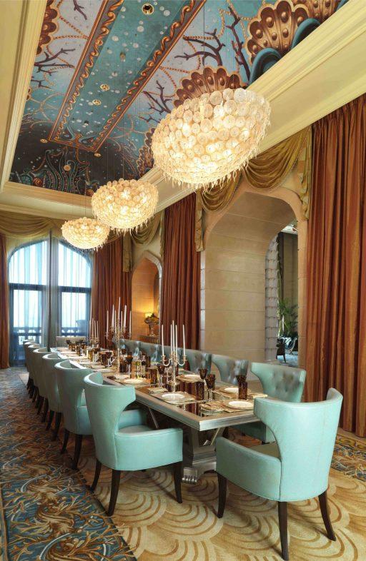 Atlantis The Palm Luxury Resort - Crescent Rd, Dubai, UAE - Royal Bridge Suite Dining Room