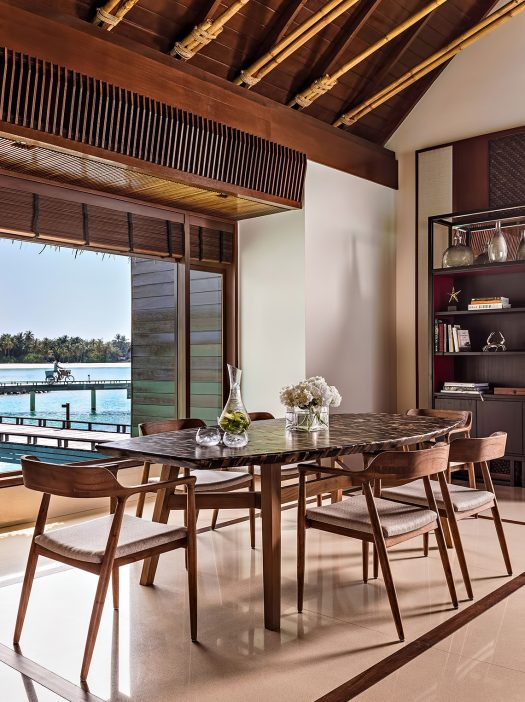 One&Only Reethi Rah Luxury Resort - North Male Atoll, Maldives - Overwater Villa Dining Room
