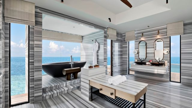 Waldorf Astoria Maldives Ithaafushi Luxury Resort - Ithaafushi Island, Maldives - Stella Maris Ocean Villa Infinity Pool Master Bathroom