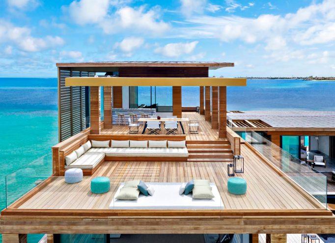 Waldorf Astoria Maldives Ithaafushi Luxury Resort - Ithaafushi Island, Maldives - Stella Maris Ocean Villa Infinity Pool Upper Deck