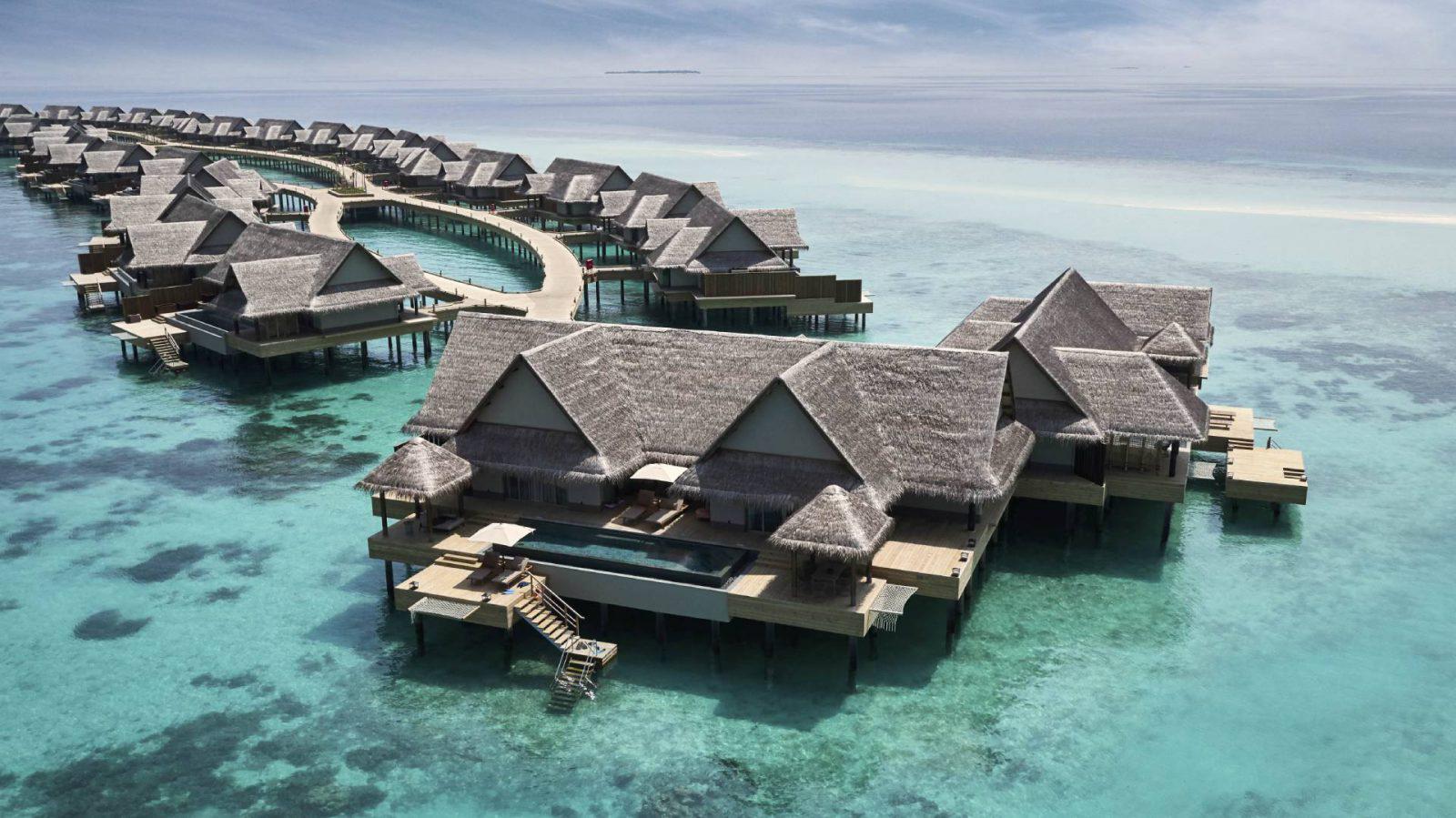 Joali Maldives Luxury Resort – Muravandhoo Island, Maldives – Water Villa Aerial View
