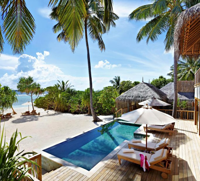 Six Senses Laamu Luxury Resort - Laamu Atoll, Maldives - Ocean Beachfront Villa with Pool