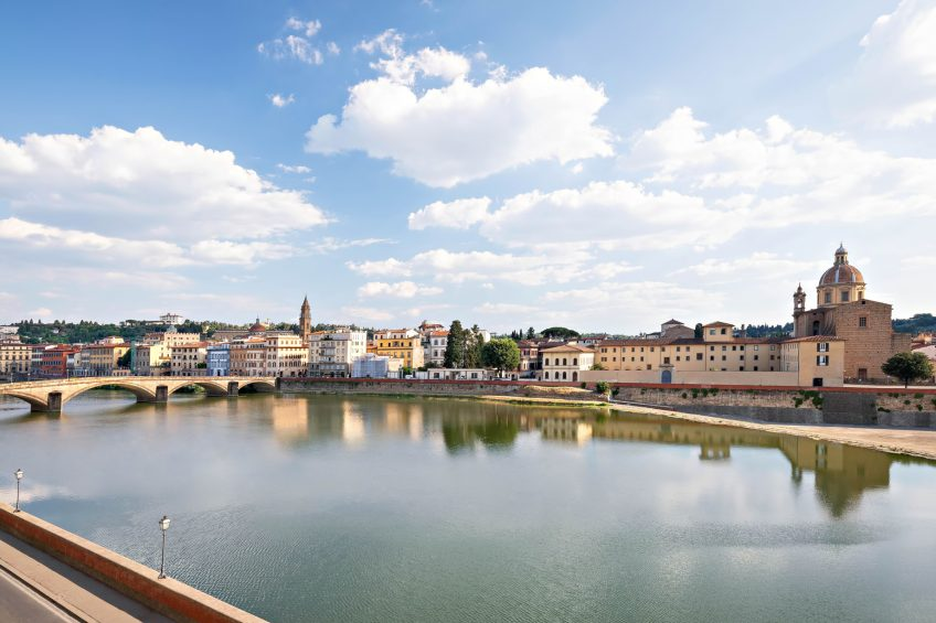 The St. Regis Florence Luxury Hotel - Florence, Italy - Arno River View