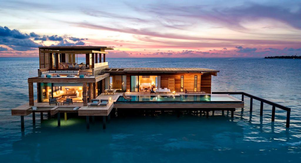 Waldorf Astoria Maldives Ithaafushi Luxury Resort - Ithaafushi Island, Maldives - Stella Maris Ocean Villa Infinity Pool Sunset