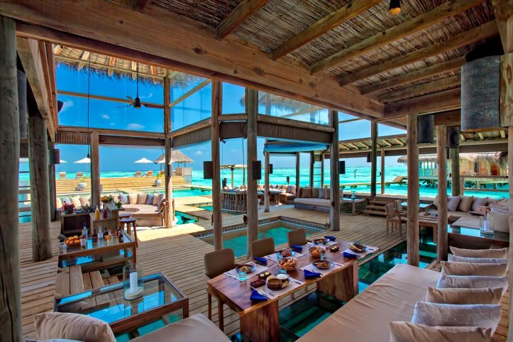 Gili Lankanfushi Luxury Resort - North Male Atoll, Maldives - The Private Reserve Living Dining Area