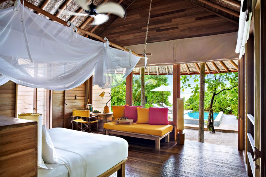 Six Senses Laamu Luxury Resort - Laamu Atoll, Maldives - Ocean Beachfront Villa Bedroom