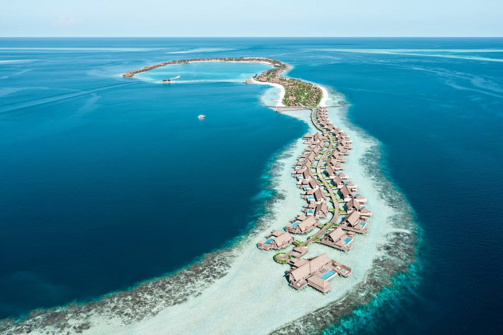Waldorf Astoria Maldives Ithaafushi Luxury Resort - Ithaafushi Island, Maldives - Resort Aerial View