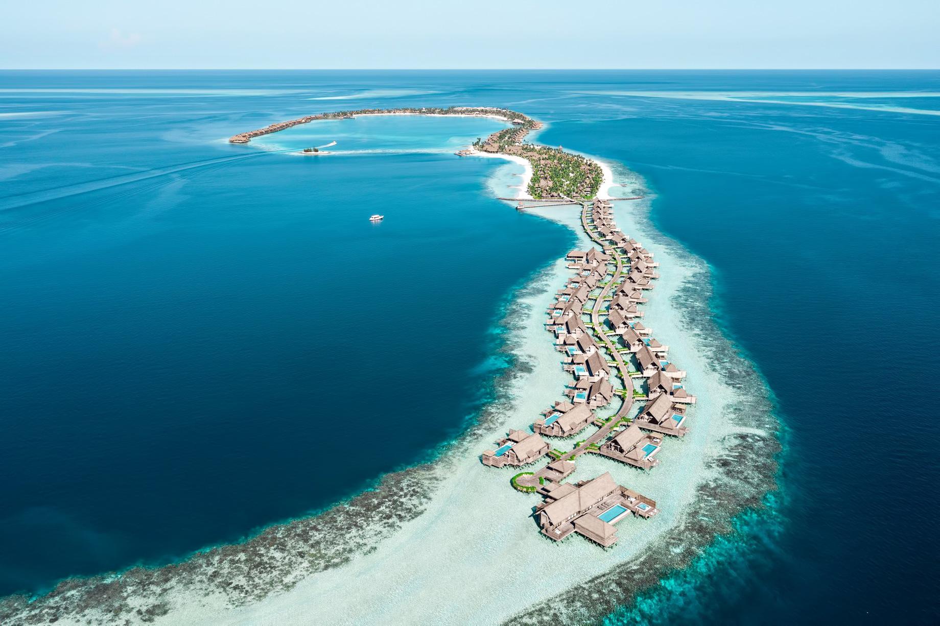 Waldorf Astoria Maldives Ithaafushi Luxury Resort – Ithaafushi Island, Maldives – Resort Aerial View